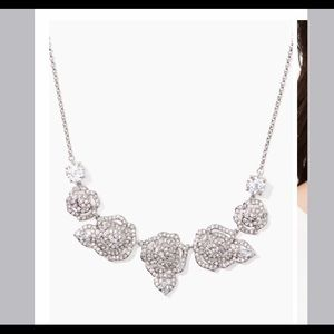 Kate Spade Silver Mini Crystal Rose Necklace